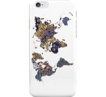 Map of the world sun iPhone Case/Skin