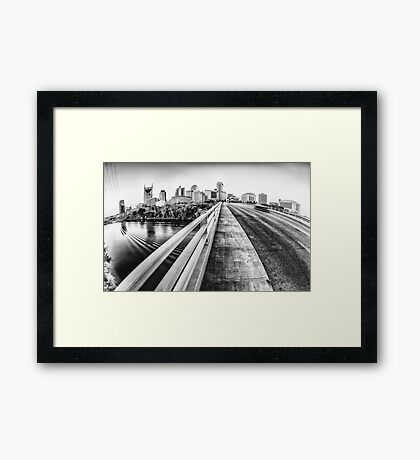 Road to Nashville in Black and White Framed Print