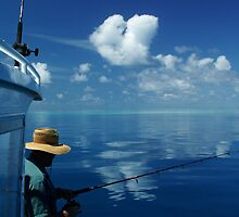Fishing on the Great Barrier Reef by Janette Rodgers