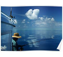 Fishing on the Great Barrier Reef Poster
