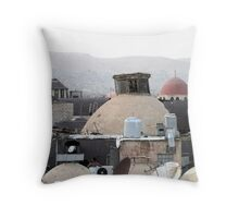 Old domes and new dishes Throw Pillow