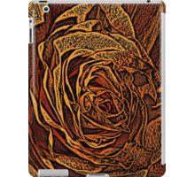 Rose Woodcut iPad Case/Skin