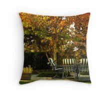 Backyard Autumn Throw Pillow
