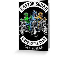 Jurassic Raptor Squad World Greeting Card