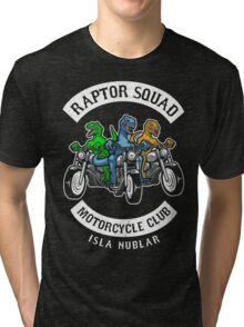 Jurassic Raptor Squad World Tri-blend T-Shirt