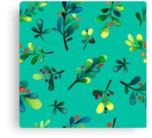 - Branch pattern (turquoise) - Canvas Print