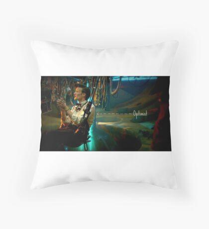 Eleventh doctor Optimist  Throw Pillow