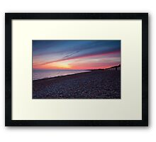 Bognor Beach at Sunset Framed Print