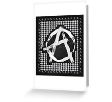 A for anarchy Greeting Card