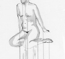 Seated Nude by Mike Finlay