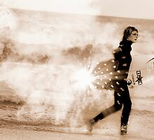 Golden surfer by Sarah Watson