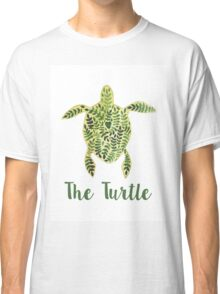 Patterned floral watercolor turtle illustration Classic T-Shirt