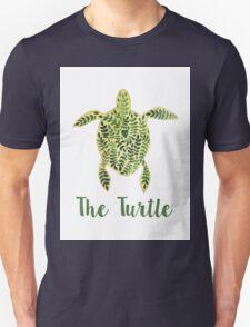 Patterned floral watercolor turtle illustration Unisex T-Shirt