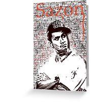 Sazon Greeting Card