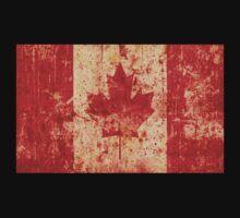 Canadian grunge flag - Canada Kids Tee