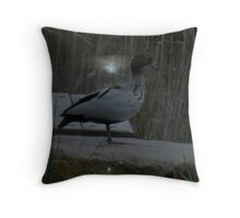 Feathers in the Moonlight Throw Pillow