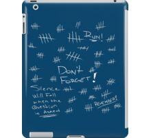 Silence - Chalk White - TARDIS Blue iPad Case/Skin
