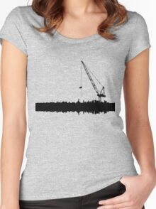 OVER CRANED Women's Fitted Scoop T-Shirt