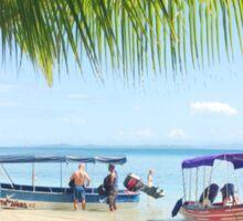 Panamanian Beach Scene Sticker