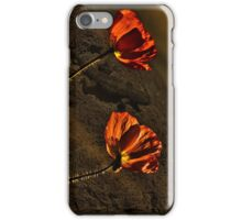 Красные маки  - Red Poppy iPhone Case/Skin