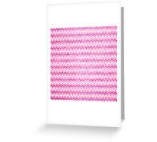 Girly pink white vintage chevron pattern Greeting Card
