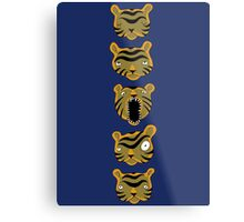 Tiger Buttons Metal Print