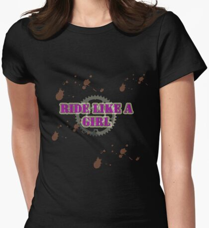 RIDE LIKE A GIRL Womens Fitted T-Shirt