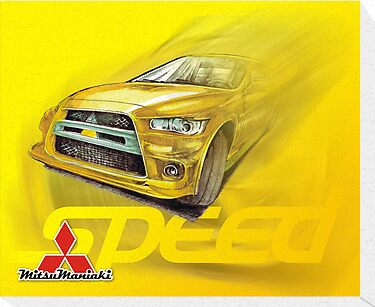 Speed - Mitsubishi Lancer EvoX by Kordian