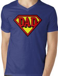 Super Dad Mens V-Neck T-Shirt