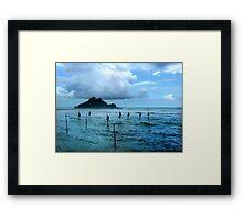 Stilt Fishing - Midigama Framed Print