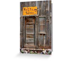 Rusty Saloon Greeting Card