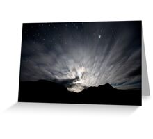 Moon Stream - Startrails version Greeting Card