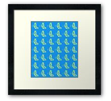 Fluttering Butterflies - Yellow and Blue Framed Print
