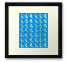 Fluttering Butterflies - Yellow and Blue Framed Print