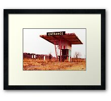 Colonial Drive In Theatre - Ticket Booth and Screen Framed Print