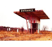 Colonial Drive In Theatre - Ticket Booth and Screen Photographic Print