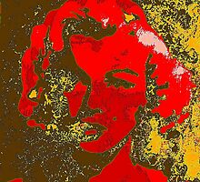 Red Marilyn by Ernest Mohs