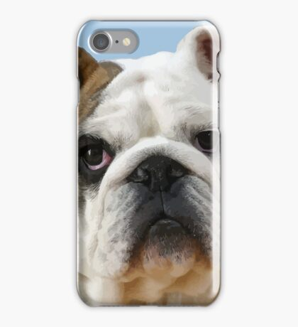 American Bulldog Background Removed iPhone Case/Skin