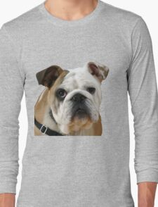 American Bulldog Background Removed Long Sleeve T-Shirt