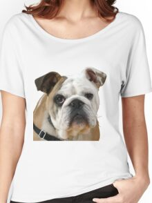American Bulldog Background Removed Women's Relaxed Fit T-Shirt