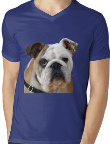American Bulldog Background Removed Mens V-Neck T-Shirt