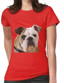 American Bulldog Background Removed Womens Fitted T-Shirt