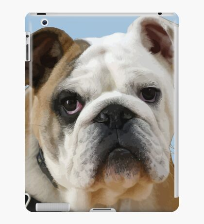 American Bulldog Background Removed iPad Case/Skin