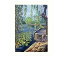 The Argenton River at Argenton-Chateau Art Print
