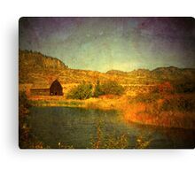 The Barn by the Water Canvas Print