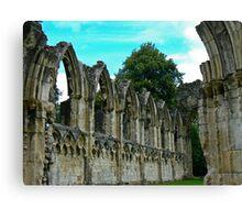 St Marys Ruins - Museum Gardens York Canvas Print