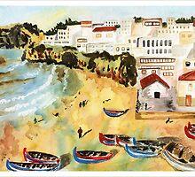 Portuguese town by Joyce Ann Burton-Sousa