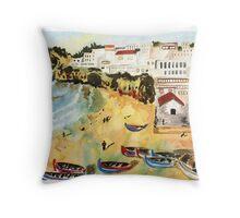 Portuguese town Throw Pillow