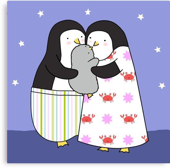 Penguin Family by zoel