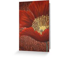 A Single Red Poppy Greeting Card